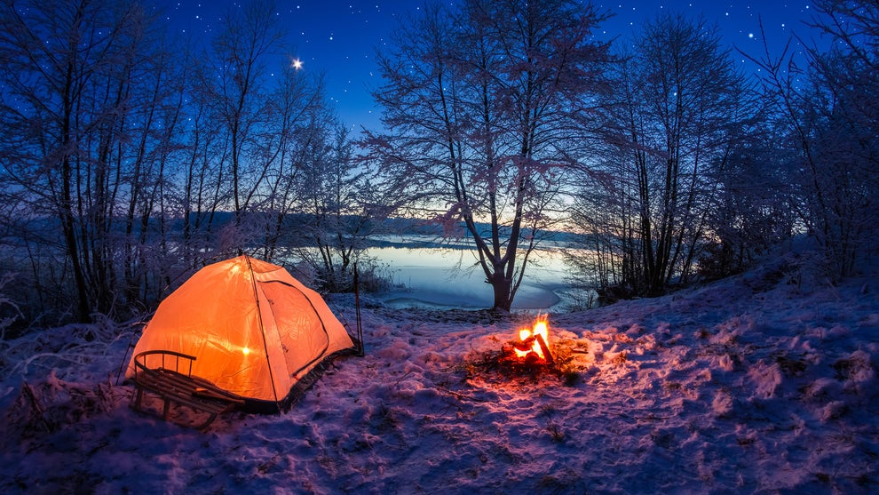 Go winter camping in the gorgeous glacial valleys at Parc national de la Jacques-Cartier.