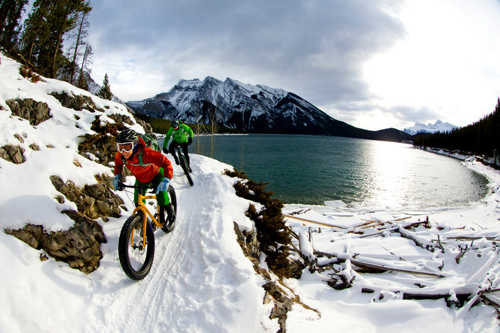 Pedal your way through the mountains on a fat bike in Kananaskis Country.