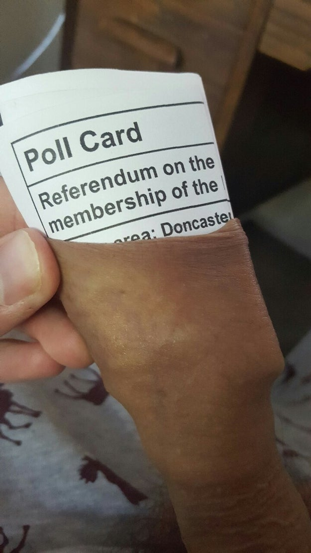 This British hero who expressed his opinion by sticking an EU referendum voting card into his foreskin.