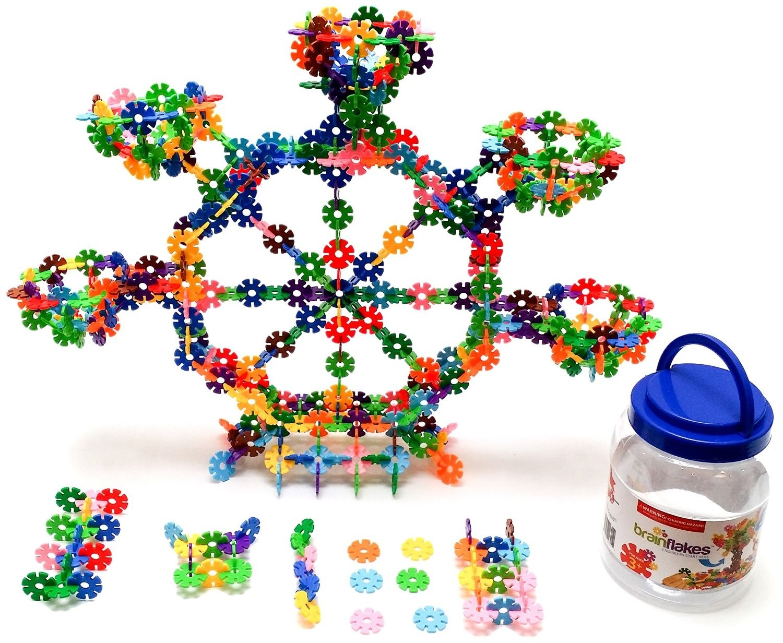 A 500 Piece Brain Flakes Interlocking Disc Set For Little Creators