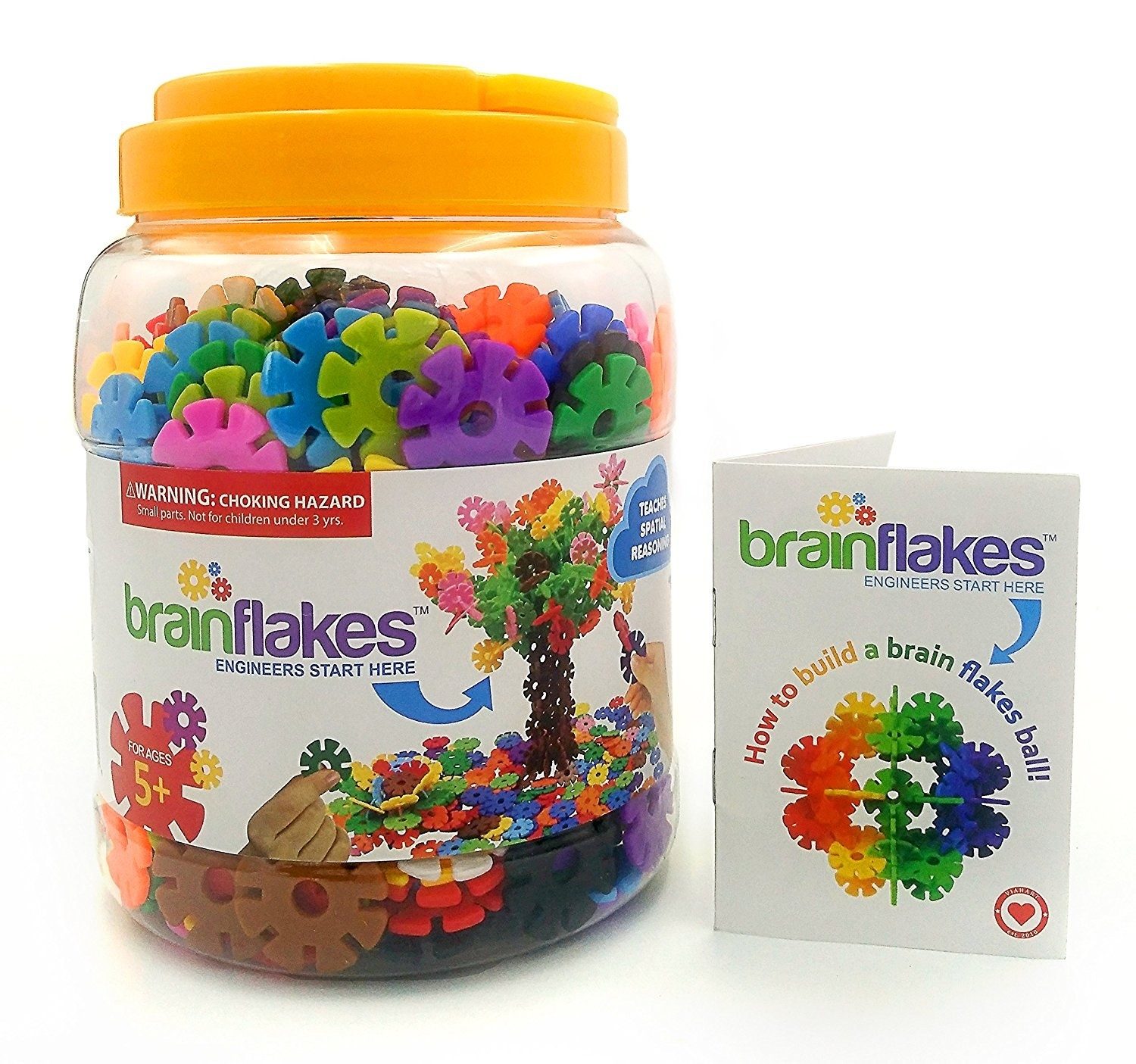 3 A 500 Piece Brain Flakes Interlocking Disc Set For Little Creators