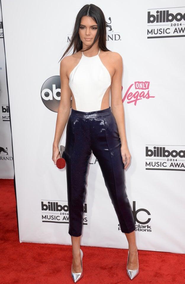 Or classic cigarette pants like Kendall Jenner: