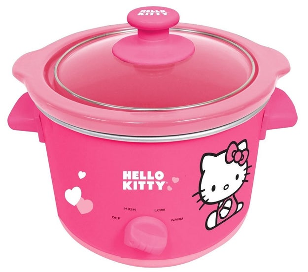 A bright pink slow cooker perfect for brewing hearty meals (and looking cute while doing so).