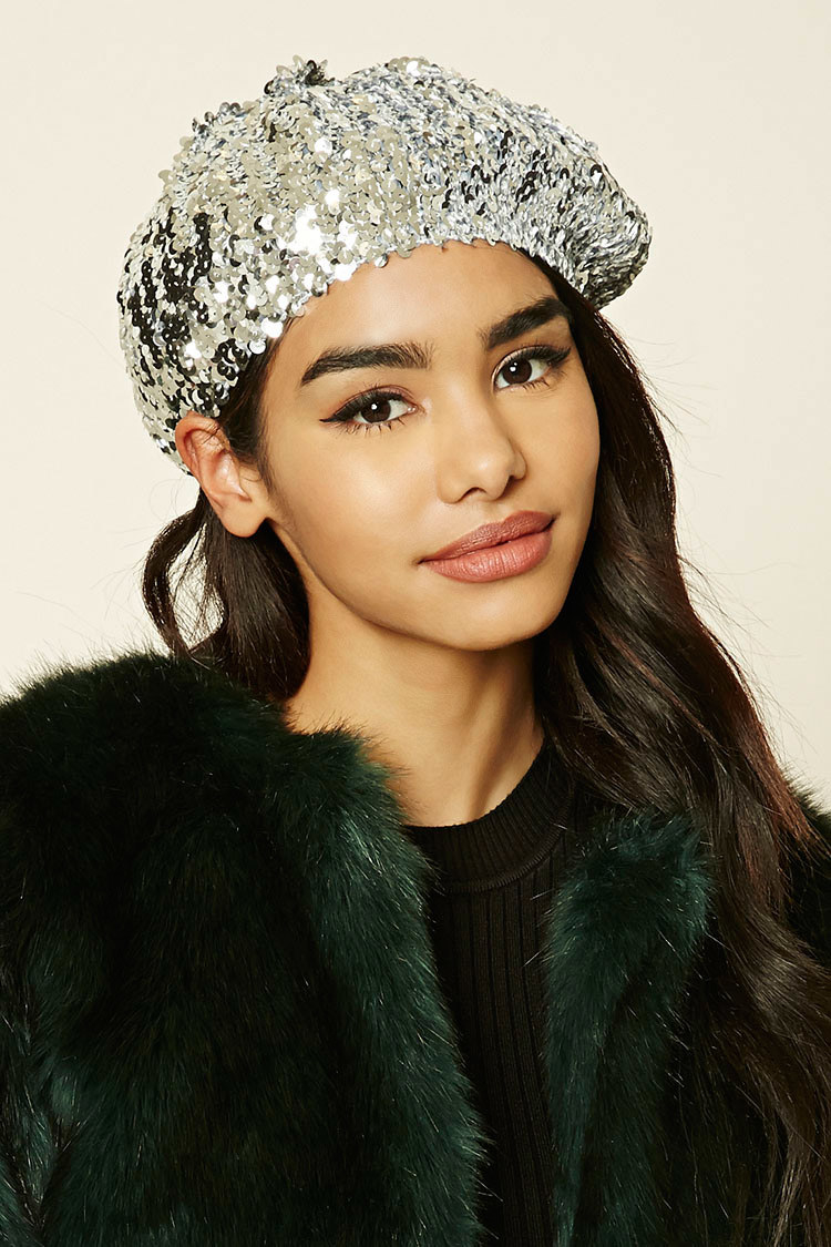 Find An Approp Present For The Person In Your Life Who Wouldnt Be Caught Dead Without A Knit Cap Even July With This Festive Sequin Beret