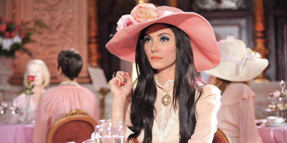 The all-ladies tea room in The Love Witch
