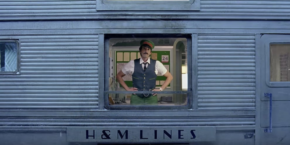 Wes Anderson turning a train into an advent calendar