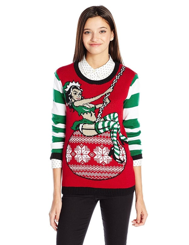 "A ""Wrecking Ball""-inspired Christmas sweater. The holidays are no excuse not to bemoan your breakup with Liam Hemsworth in sexual, unhygienic ways."