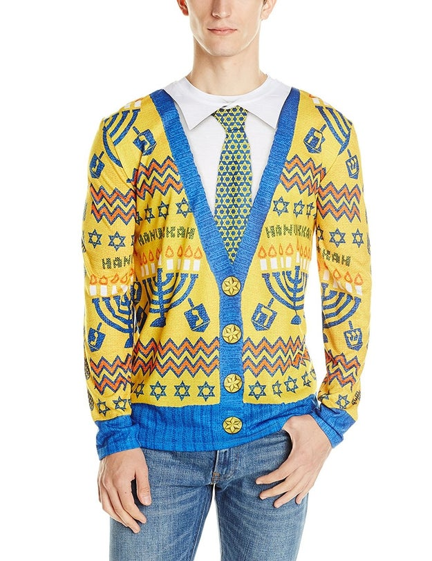 This Chanukah tuxedo T-shirt eyesore.