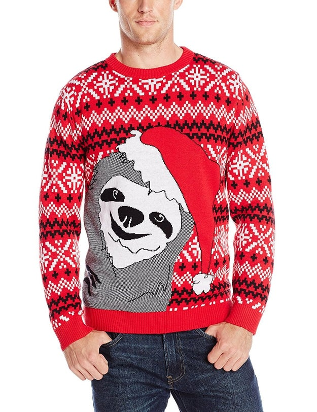 This festive number with everyone's favorite photo-bombing Christmas sloth.