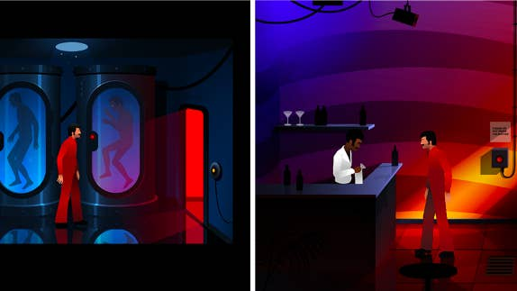 In this point-and-click adventure game, you'll play as an average Joe navigating his way through both the 1970s and a dystopian future. It sounds a little hard to grasp, but the stylized puzzles and creepy time-travel plot are more than enough to keep you hooked.Great if you like: Time travel, dystopian settings, choose-your-own-adventuresPrice: Free on iOS and Android.