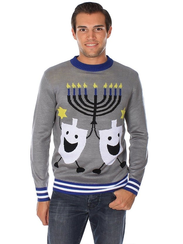 A Chanukah sweater filled with Chappiness.