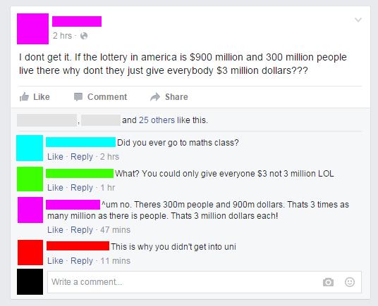 Lottery math: