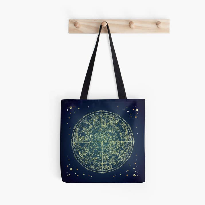 32 zodiac gifts thatll leave you star struck a tote with a map of the heavens on it gumiabroncs Images