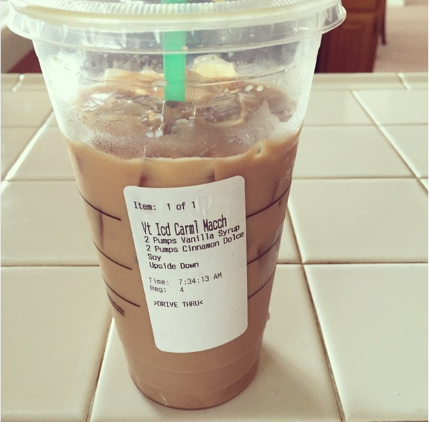 """Maybe you've already tried the Caramel Snickerdoodle Macchiato (a """"secret"""" Starbucks item, hello). This is the chocolate-y version."""