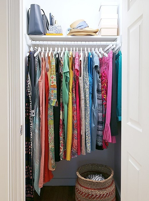 Shifting hanging items to make them flow nicely makes them look neat and attractive, and costs exactly $0.