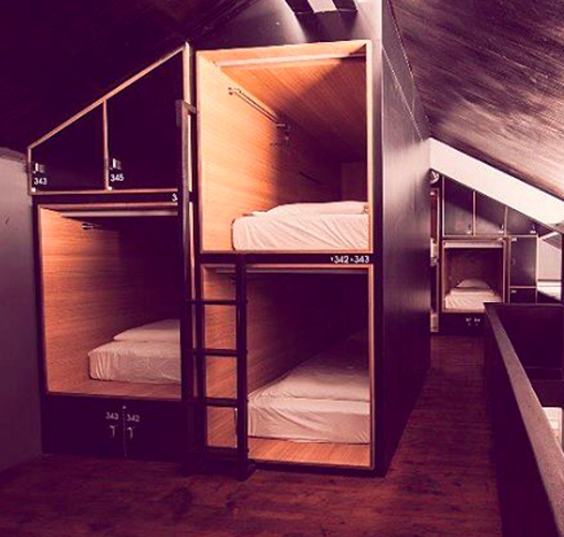 Stay in backpacker hostels instead of fancy hotel rooms.