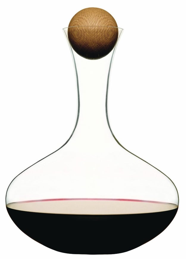A sleek wine carafe that will still look put together even when you're not.