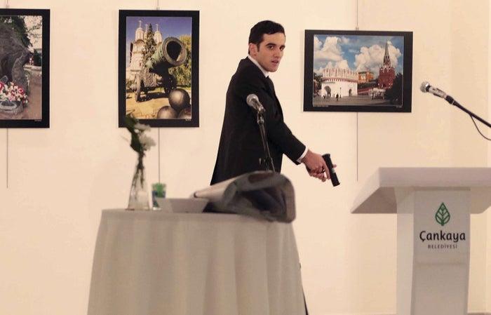 Mevlut Mert Altintas after shooting the Russian ambassador on Monday.