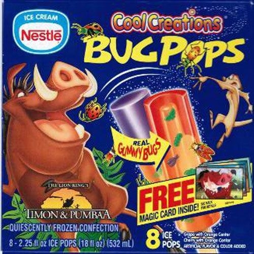 And Timon & Pumbaa Bug Pops.