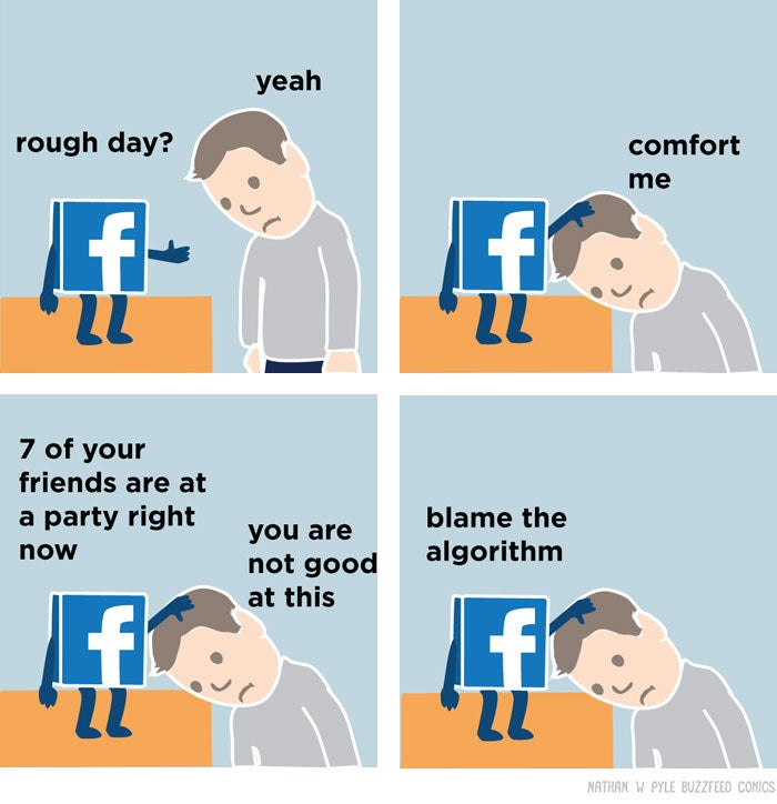 Seriously. I asked my coworkers at BuzzFeed for one thing they did this year that actually improved their mental health, and about half of them said removing Twitter and Facebook from their phones. Twitter and Facebook might not be your happiness-suck, but chances are, there's an app that is doing you more harm than good. Try going without it for awhile and see how you feel.