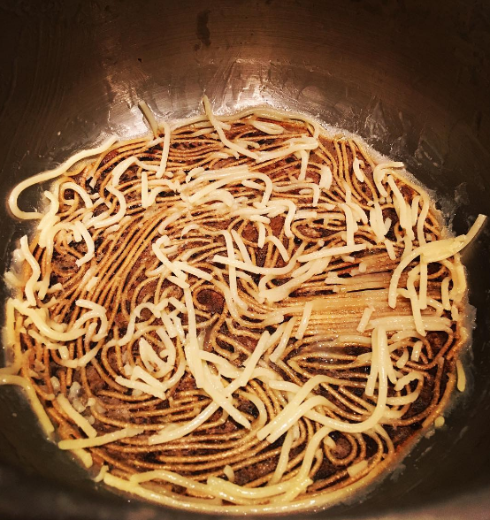 This attempt at spaghetti, which looks like some kind of modern art.