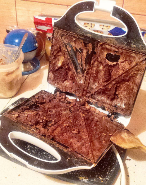 This toastie fail, which truly should not have happened.