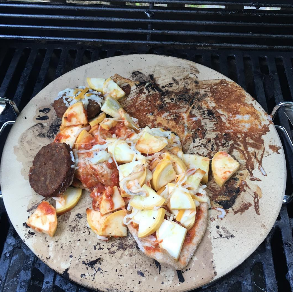 And this attempt at using a pizza stone, which didn't really work out.