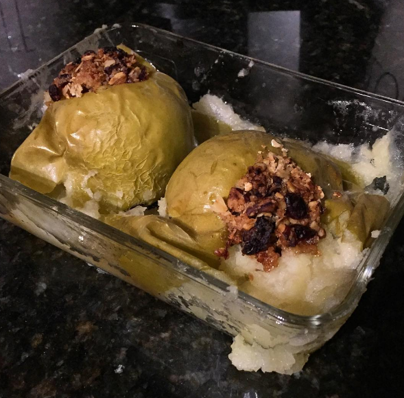 These seasonal baked apples that were a little too baked.