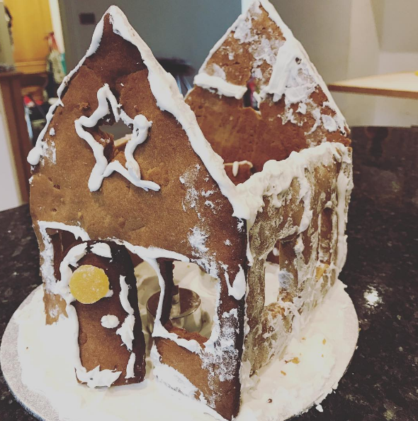 This gingerbread house that looks more like an abandoned house that's survived several fires.