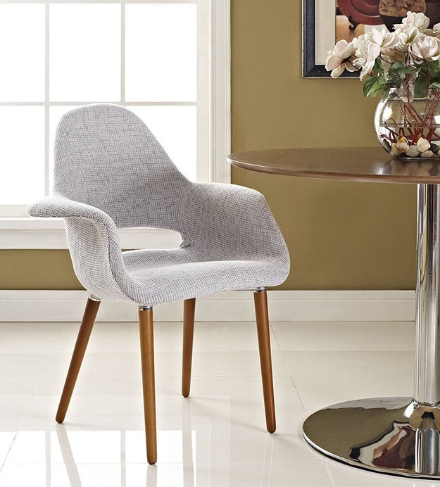A twill-patterned chair that's way better-looking than whatever cheap Ikea chair you have now.