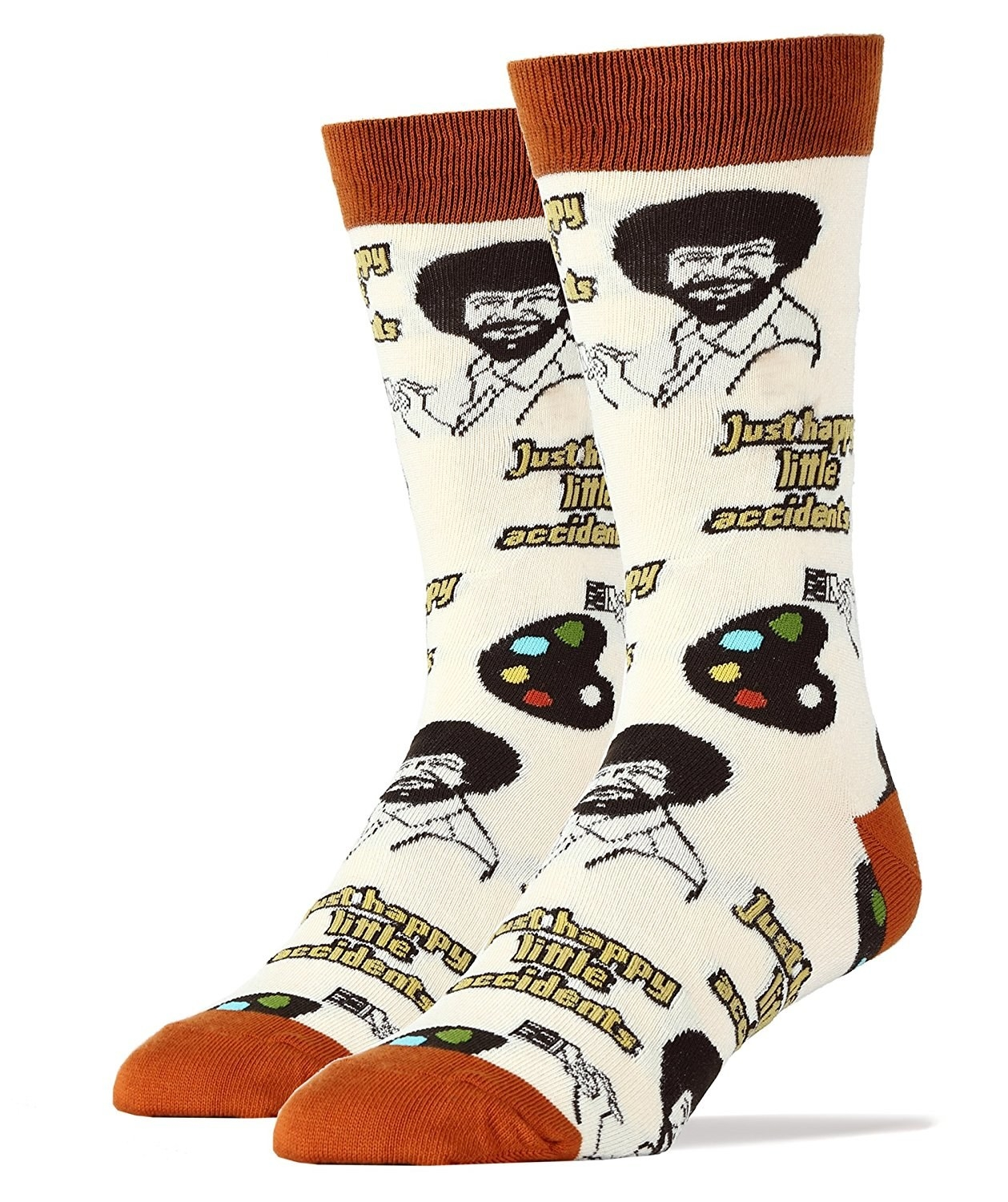 5 Bob Ross Socks That Remind A Loved One Theres No Such Thing As Mistakes
