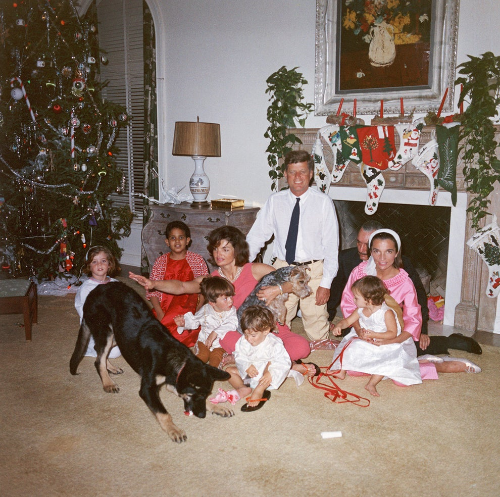This candid snapshot of the Kennedys on Christmas morning, 1962.