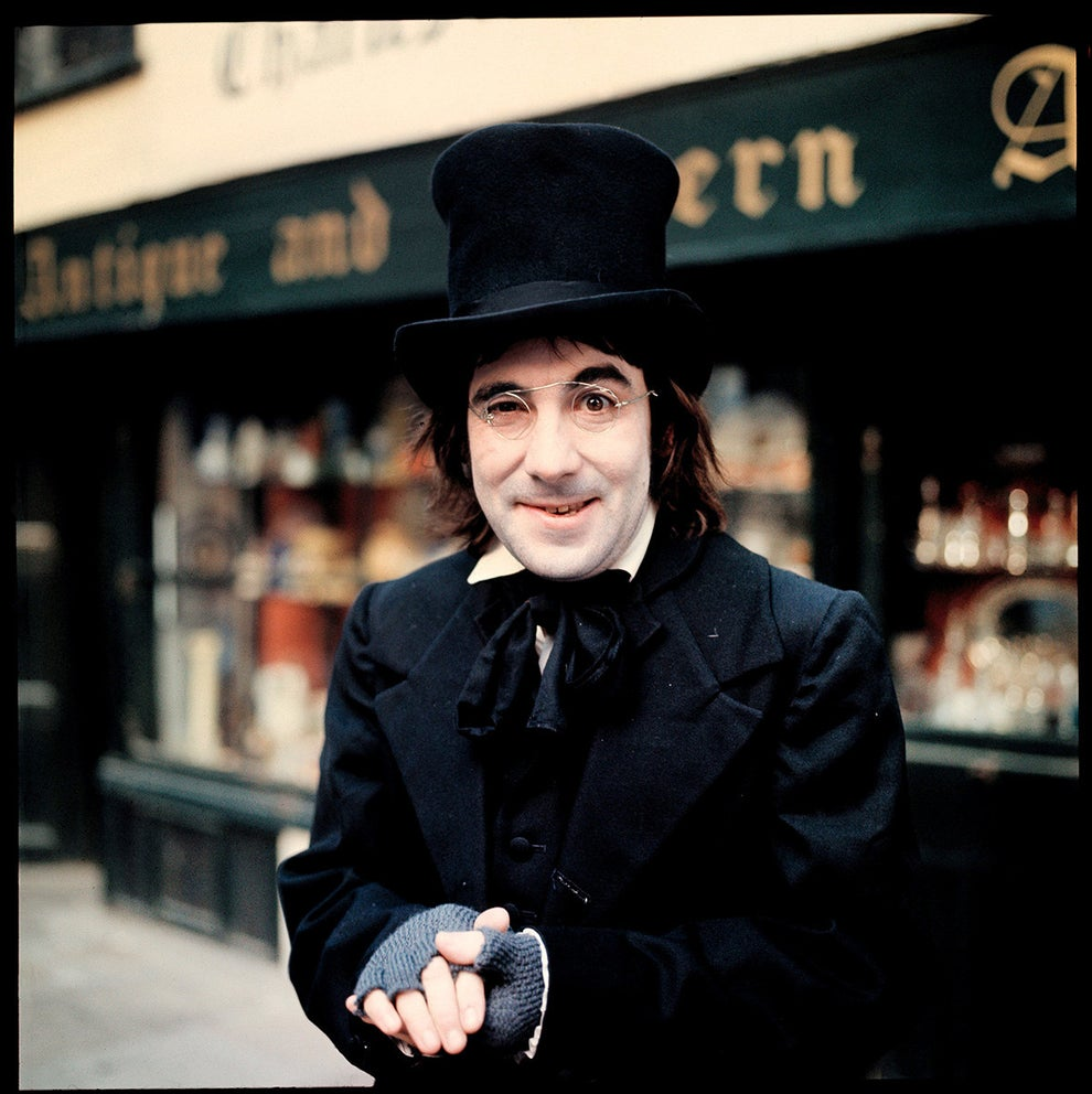 Drummer Keith Moon of The Who channeling his inner Scrooge in 1970.
