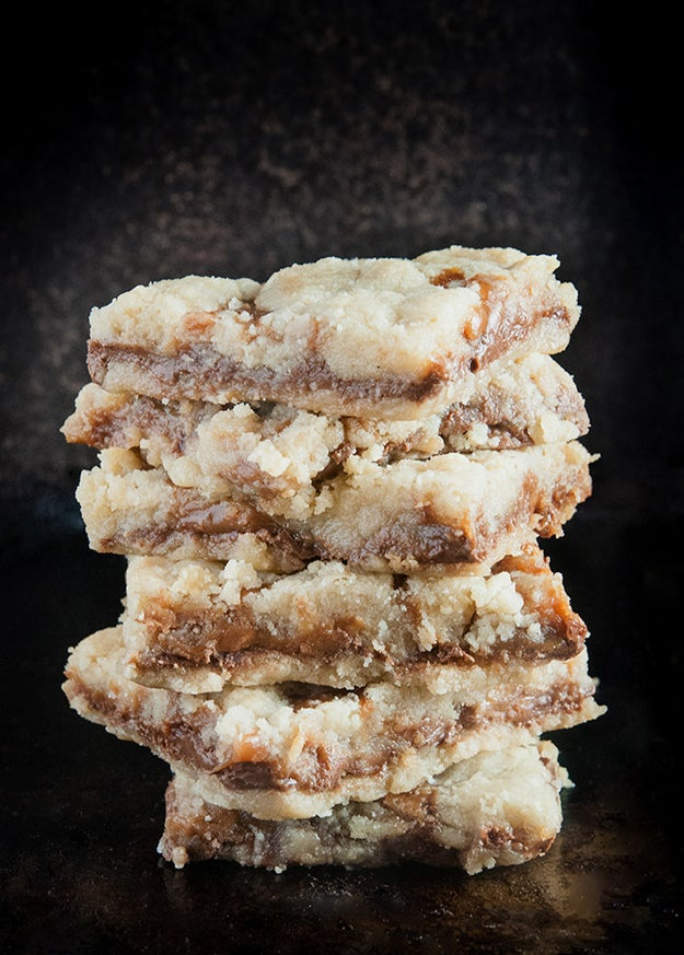 Salted Caramel Chocolate Chip Butter Bars