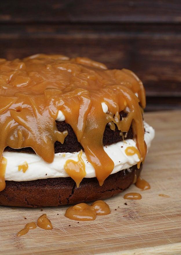 Salted Caramel Brownie Cheesecake