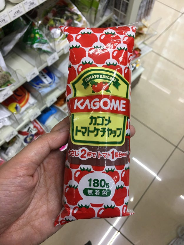 ...ketchup in a tube...
