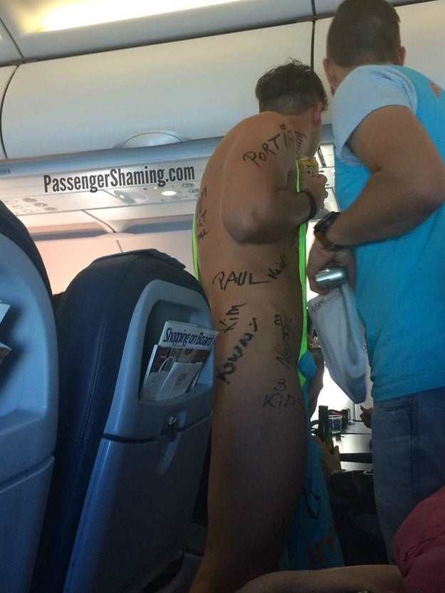 Maybe your seatmate was a little underdressed...