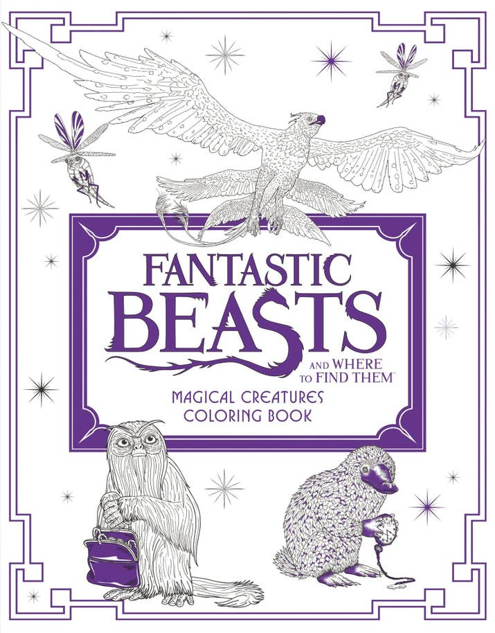 Fantastic Beasts And Where To Find Them Magical Creatures Coloring Book For Magizoologists