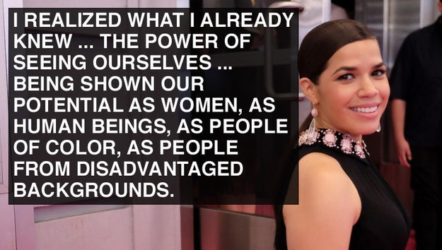 When America Ferrera became a force for change.
