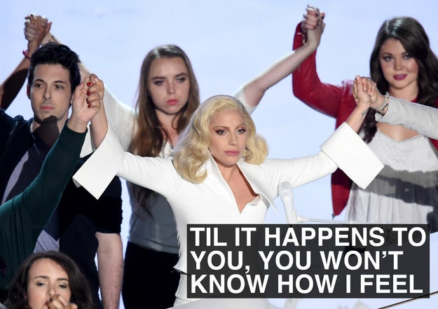 When Lady Gaga spoke out against sexual violence.