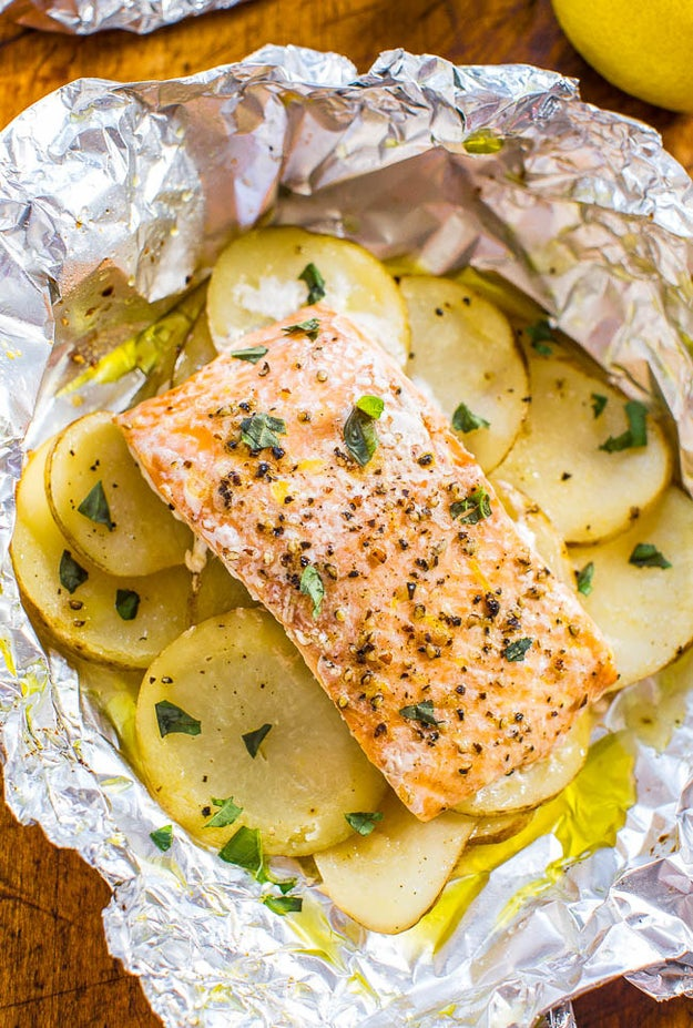Salmon & Potato Foil Packs