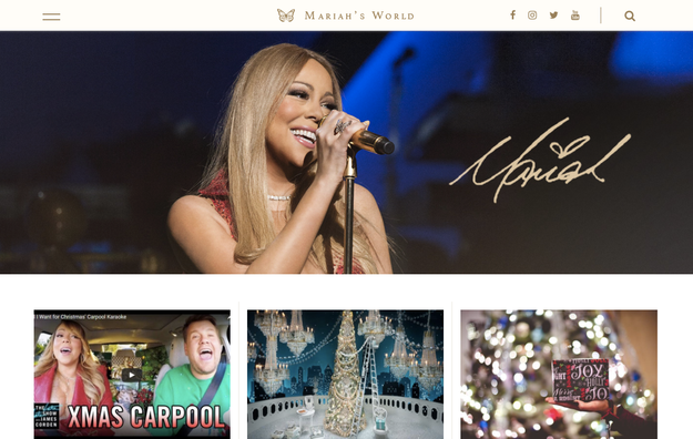 And now, fans are about to get a WHOLE LOT MORE MARIAH. The ~queen of not knowing anybody~ is releasing her new website, MariahsWorld.com, at 12 p.m. PT today, and BuzzFeed has the exclusive first look!