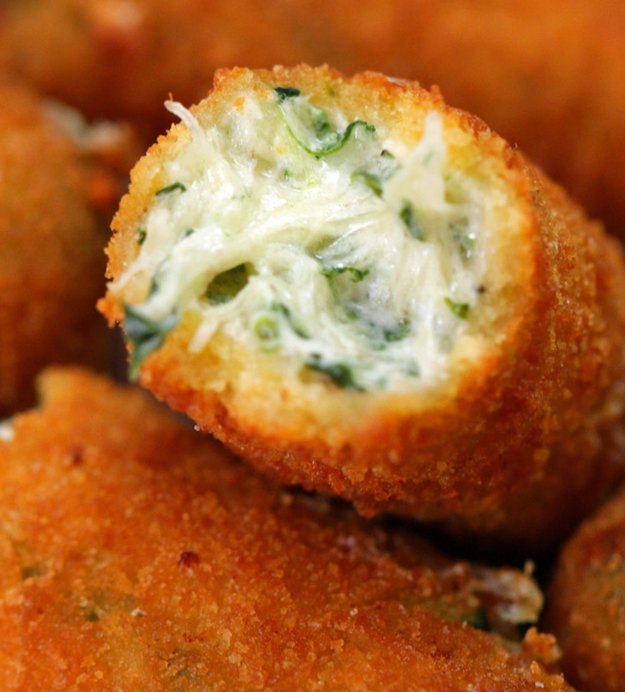 These spinach dip mozzarella sticks that could very well be mankind's best invention to date.