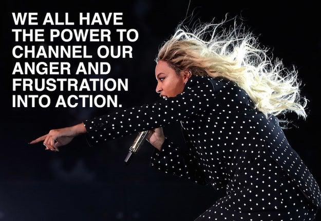 When Beyoncé urged us to stand up for justice.