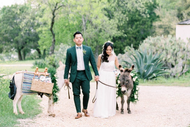 This couple wins for bringing Lil Sebastian to their wedding.