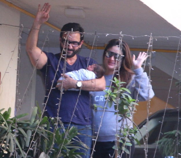 Buzz Viral Home: Here Are The First Photos Of Kareena And Saif Bringing