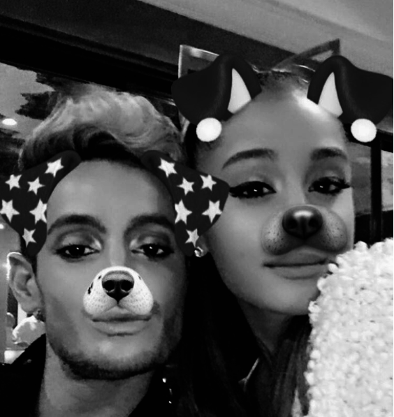 Ariana Grande had fun with family and filters.