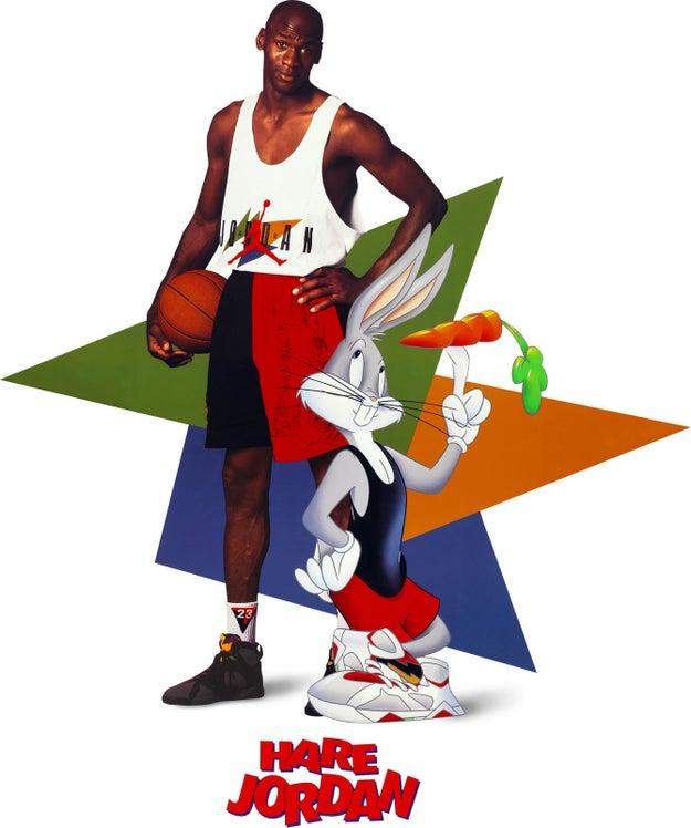 La idea para Space Jam provino del éxito de un anuncio de Nike de 1992 en el que Michael Jordan jugaba al baloncesto contra Bugs Bunny.