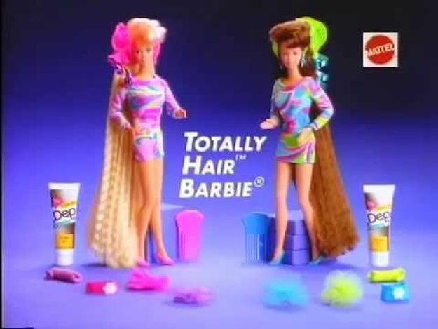 Barbie Totally Hair es la muñeca Barbie más vendida de todos los tiempos.