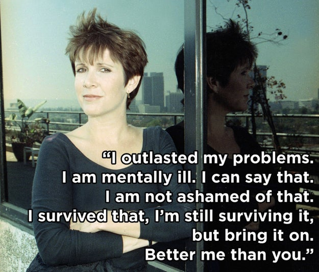 On her life with mental illness: